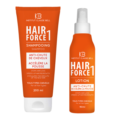 HAIR FORCE 1 Shampoo + Lotion - Vermindert seizoensgebonden haarverlies
