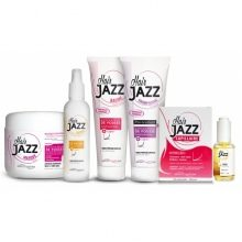 Complete HAIR JAZZ set - shampoo, conditioner, lotion, mask, haarserum en vitamine