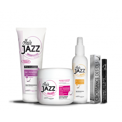 HAIR JAZZ set - shampoo, lotion, mask en eyelash serum